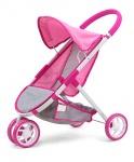 Milly Mally poppenwagen Susie Prestige meisjes 63 cm roze/grijs