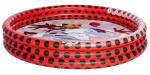 Miraculous opblaaszwembad junior 122 x 23 cm rood/zwart