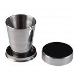 AceCamp inklapbare beker RVS 60 ml zilver