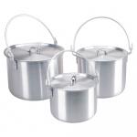 AceCamp kookpan outdoor set 4/8/12 liter zilver