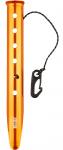 Nigor haringen Snow & Sand 32 cm aluminium oranje 6 stuks