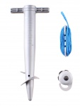 Pincho parasolstabilisatorset 20 cm grijs 3-delig