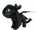 Play by Play knuffel Dragon junior 40 cm polyester zwart