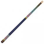 Powerglide biljartkeu Psychedelic 9,5 mm hout blauw/bruin