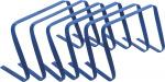 Precision horden buigbaar 22,8 x 48 cm PVC blauw 6 stuks
