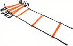 Precision trainingsladder Neo 400 x 51 cm nylon zwart/oranje