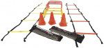 Precision trainingsset Speed nylon geel/oranje 20-delig