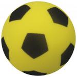 Precision voetbal high-density 20 cm foam geel/zwart