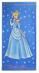 Disney badlaken Assepoester Princess 70 x 140 cm katoen blauw