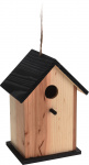 Pro Garden vogelhuisje 22 x 15,5 x 13 cm hout naturel/zwart