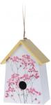 Pro Garden vogelhuisje 22 x 15 x 9 cm hout wit/geel