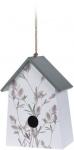 Pro Garden vogelhuisje 22 x 15 x 9 cm hout wit/grijs