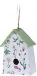 Pro Garden vogelhuisje 22 x 15 x 9 cm hout wit/groen