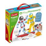 Quercetti knutselpakket Puppets junior karton wit/geel 88-delig