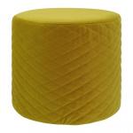 Rox Living kruk 34 x 31 cm fluweel geel