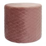 Rox Living kruk 34 x 31 cm fluweel roze