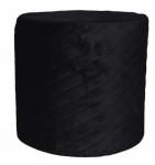 Rox Living kruk 34 x 31 cm fluweel zwart