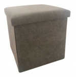Rox Living opbergbox/poef 38 cm 55 liter alcantara bruin