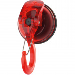 Rubytec kledinghaak met zuignap Mammoth 4,7 x 3,5 cm ABS rood