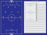 Sportec Voetbal Magnetische Coachmap + Clip 35 X 47 cm