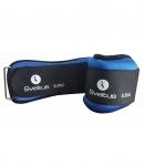 Sveltus enkel- of polsgewichten 500 gram 2 stuks blauw/zwart