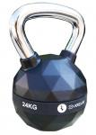 Sveltus kettlebell Diamond 24 kg staal/polyurenthaan zwart