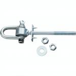 Swing King schommelhaak met harpsluiting M12 x 135 mm verzinkt zilver