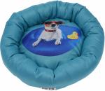 Dogs Collection hondenkussen 48 cm polyester blauw