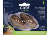 Cats Collection kattenspeeltje muis kattenkruid bruin 2 stuks