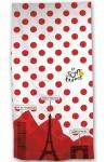 Tour De France badlaken 70 x 140 cm wit/rood