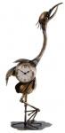 Gifts Amsterdam klok vogel 34,5 x 17,5 cm staal goud
