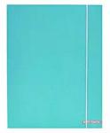 Verhaak elastomap Soft Touch Pastel A4 karton blauw