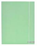 Verhaak elastomap Soft Touch Pastel A4 karton groen