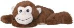 Welliebellies opwarmknuffel aap 30 cm bruin
