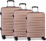 Worldpack kofferset Montreal 38/61/95 liter ABS roze 3-delig