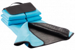 XD Collection picknickdeken 130 x 145 cm fleece blauw